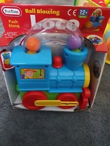 Pushalong Ball Blowing Loco Train Toy- Suitable From 12 Months Brand New Boxed