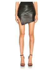 9d84377bc2 Mason by Michelle Mason asymmetrical black leather mini skirt, size 6