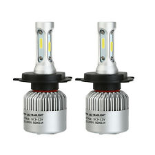 2x CREE H4 Hi/Lo 9003 HB2 8000LM LED Car Headlight Kit Double Beam Bulbs 6000K