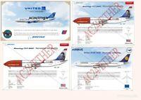 EasyJet, Jet2, Norwegian Airlines, TUI, Lufthansa Aircraft Illustration Prints