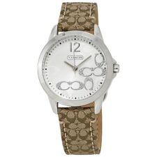 Coach Womens Classic Signature Strap White Dial Watch 14501620 $195