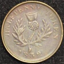1832 Canada Token, Nova Scotia Thistle Token, AU, NS 3D1