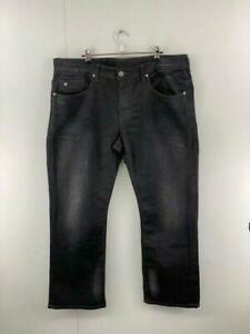 Buffalo David Bitton Mens Black Denim High Rise Stretch Bootcut Jeans Size 38