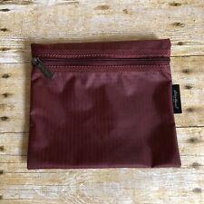 Eddie Bauer Burgundy Waterproof Small Zipper Pouch - Travel Bag - 100% Nylon
