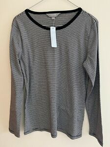 SUZANNE GRAE Stripe Long Sleeve Top - Size M - NEW