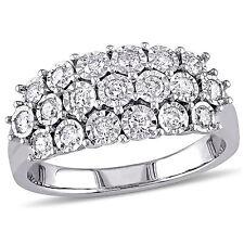 Sterling Silver 1/2 ct TDW Diamond Multi-Row Anniversary Ring G-H I2-I3
