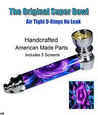 Metal Tobacco Smoking Pipe Bowl Pipe Brass Glass Tobacciana
