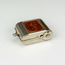Antique Folding Camera Formed - Chrome Plated & Leather Travel Inkwell