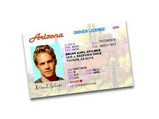 Fast and Furious Paul Walker, Brian Earl Spilner Arizona DL Replica Prop