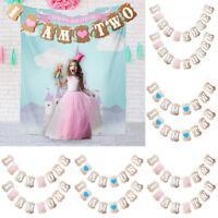 1-3 years Banner Garlands Bunting Baby Shower Birthday Party Decor Photo Props