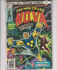 NOVA #1 FIRST APPEARANCE OF RICHARD RIDER 1ST PRINT Good Condition