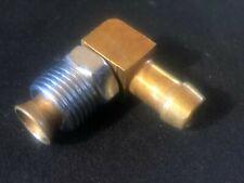 "Fuel Inlet Hose Fitting 90 Degree 3/8"" hose Flare 5/8x18 Quadrajet Power Llc"