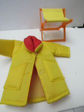 Vintage Barbie Rain Coat & Outdoor Folding Beach Chair