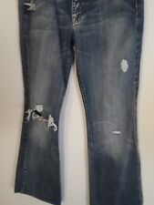 7 Seven for All Mankind Womens Denim Bootcut Jeans Distressed Size 28 32x32