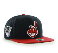 Cleveland Indians '47 Brand MLB Snapback Hat Cap - Chief Wahoo Indian Head