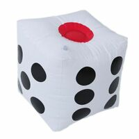 32cm gonfiabile Blow Up Cube Dice Casino Poker decorazioni del partito Q5A2 C0O8