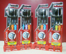 Toothbrush 3x Colgate Slim Soft Charcoal Infused Bristles Pack of 3 Ship