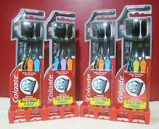 Toothbrush 12 Brush Colgate Slim Soft Charcoal Soft Bristles Lot Of 12 Free Ship