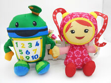 "New Fisher Price TEAM UMIZOOMI Bot MILLI 9""plush toy set of 2"