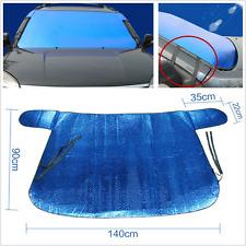 Blue Folding Trim Car Front Windshield Snow Defence Sun Shade Block Cover AntiUV