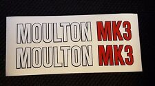 "MOULTON MK3  decals/stickers set for ""Moulton MK3"" Bike frame"