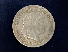 1882 Haiti 1 Gourde Silver Coin