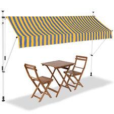 Tenda Sole Balcone Estensibile Parasole Avvolgibile Esterno Gambe 300cm Giallo