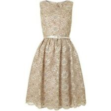 Eliza J Lace Prom Dress UK 8 Gold rrp £160.00 Box14 26 L
