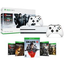 Xbox One S 1TB Gears 5 Consola Paquete + Extra Xbox Controlador Inalámbrico Blanco