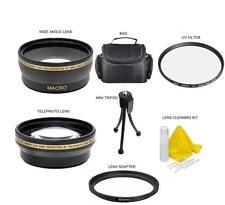 Accessory Kit Wide/Tele Bag Filters For Canon Vixia HF R700 R600 R72 R70 R62 R60