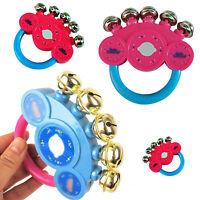 Hand Shaking Bells Rattle Handbell Musical Educational Toys Baby Kids Xmas Gift