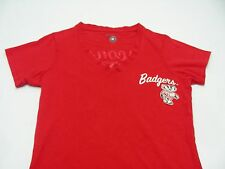 Wisconsin Badgers - Ncaa/Fbs/Big 10 - Ladies Cut - V Neck - Xs Size T Shirt!