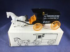 E3-5 ERTL1:25 SCALE DIE CAST BANK - HORSE AND CARRIAGE -CHICAGO TRIBUNE NEWS