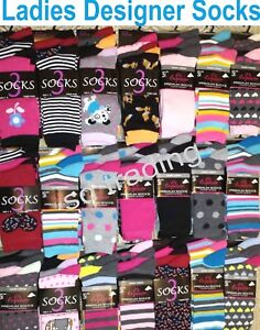 12 Pairs Ladies Women Designer Socks Clearance Wholesale Job Lot Christmas Gift