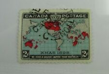 1898 Canada SC #86b Christmas/Map CDS Used Fine stamp