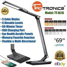 Stylish Metal LED Desk Lamp Office Computer Light USB Charger TaoTronics TT-DL16