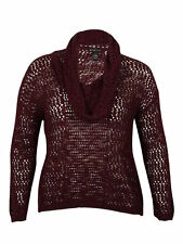 INC Internationl Concepts Woman 3X Harvest Sun Port Cowlneck Loose Knit Sweater