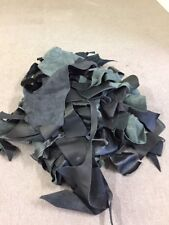 1kg Just BLACK Leather Scrap, Offcuts, Free P+P