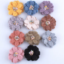 10Pcs 5Cm New High Quality Non-Woven Felt Fabric Flower With Stamen For Cloth