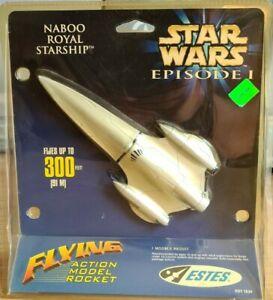 ESTES STAR WARS EPISODE 1 FLYING MODEL ROCKETS NABOO ROYAL STARSHIP MIB