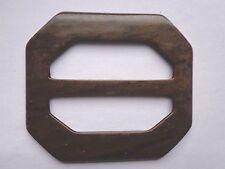 Vintage  2 3/4 X 3 Brown marbled Buckles Slides Unused Sewing Crafts USA Seller