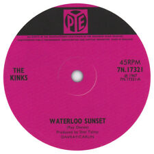 The Kinks Waterloo Sunset record label vinyl sticker. Pye records