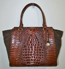 NWT Brahmin Pecan Harmonia Texture Leather Large Petra II Tote Bag Purse $395