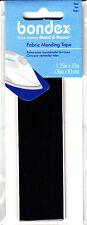 "BONDEX BLACK FABRIC 1 1/4"" X 32"" IRON ON MENDING TAPE - Clothing,  Repair, Mend,"