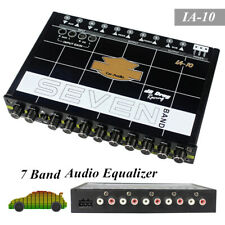 7 Band Car Sound Audio Equalizer Pre-parametric With Subwoofer Tuning Crossover