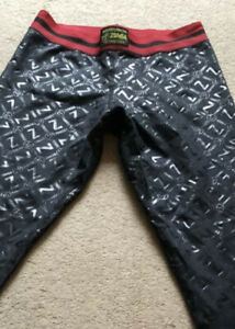 Zumba Leggings Size Medium Black New No Labels Dance Exercise Made In Columbia