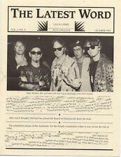 R.E.M. Fanclub Newsletter October 1993 Vol.2 No.9