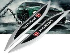 2 x Honda Luxury Auto Car Body Chrome Fender Blade Badges Emblems Decal Sticker