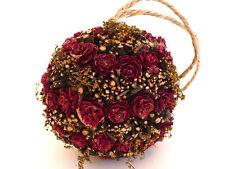 Beautiful Hanging Dried Roses Twigs Ball Home Decor Christmas Xmas Ornament10cm