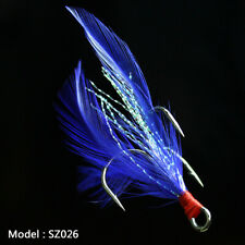 20pcs Fishing Hooks Treble With Feather Minnow Fishing Lures Crankbaits SZ26 2#